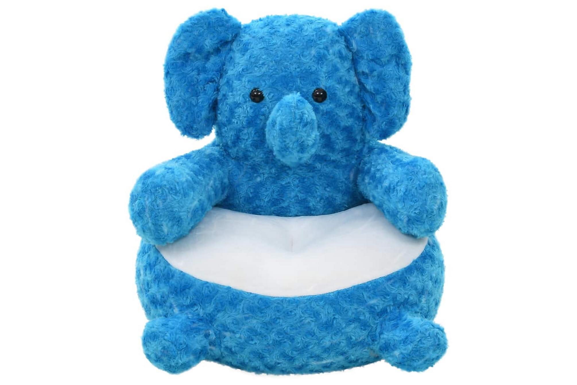 Gosedjur elefant plysch blå