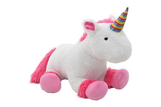 Gosedjur enhörning plysch rosa och vit, Barninredning