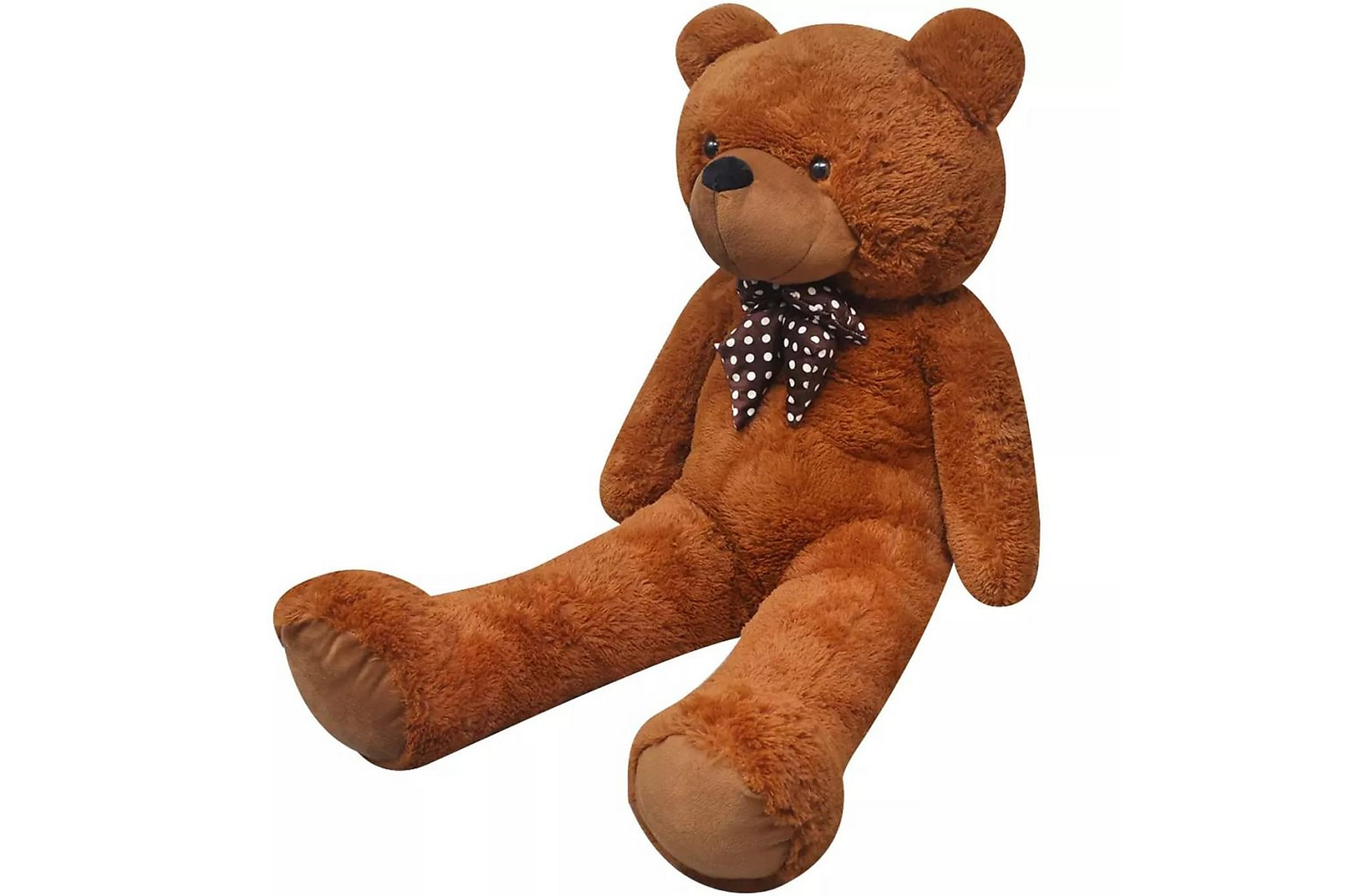 Nallebjörn XXL i brun plysch 175 cm