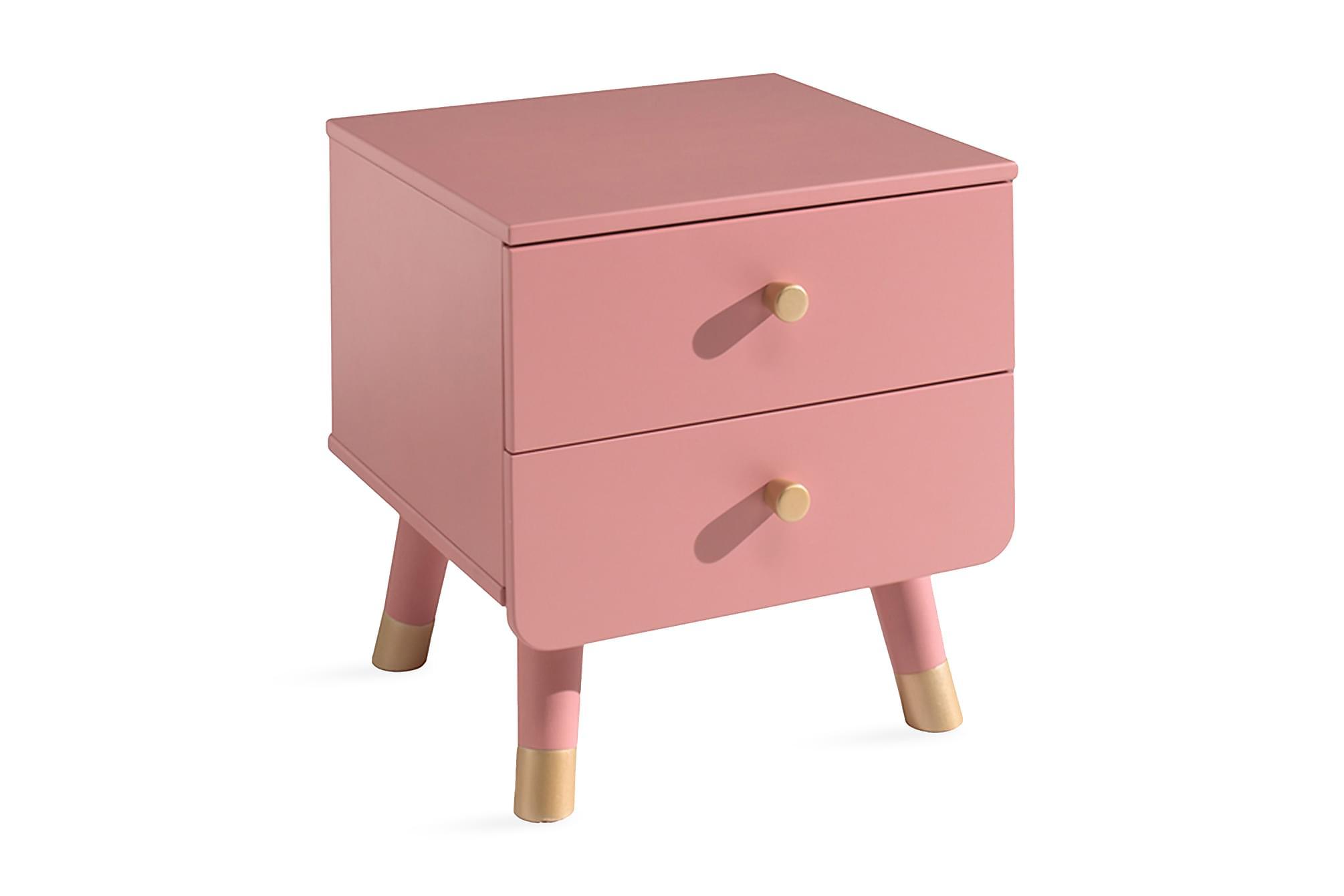 ARLUM Sängbord 43 cm Rosa, Barnbord