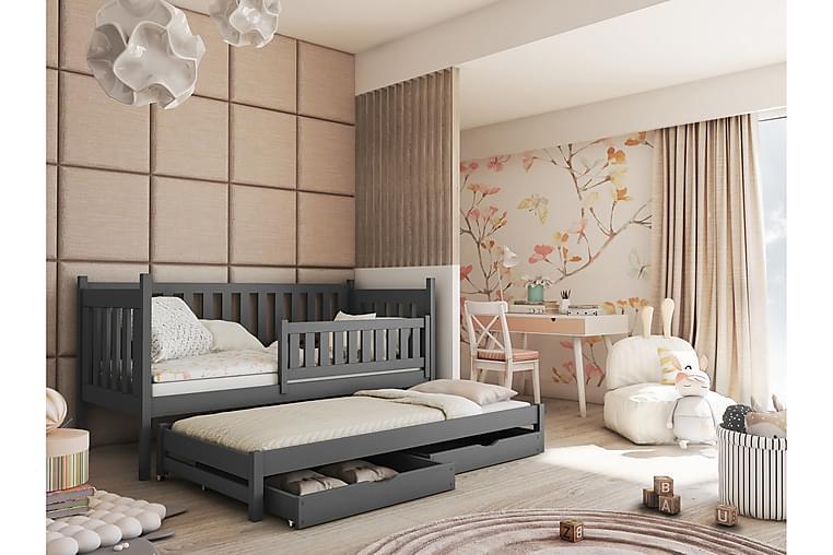 DALILA Barnsäng med förvaring och skena 80x180 Antracit - Möbler & Inredning - Barnmöbler - Barnsängar & juniorsängar