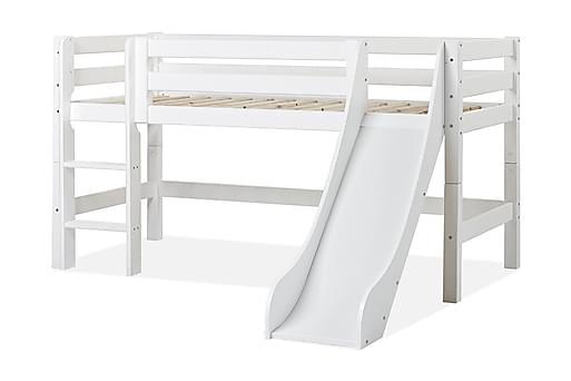 MASTDUNGA Säng med stege och rutschkana 209 cm Vit, Barnsängar & juniorsängar