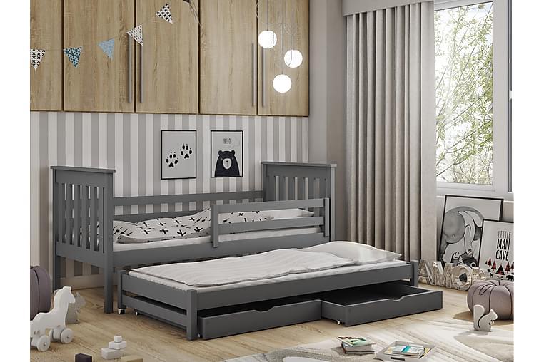 PHILIP Barnsäng med extrabädd och förvaring 90x190 Antracit - Möbler & Inredning - Barnmöbler - Barnsängar & juniorsängar
