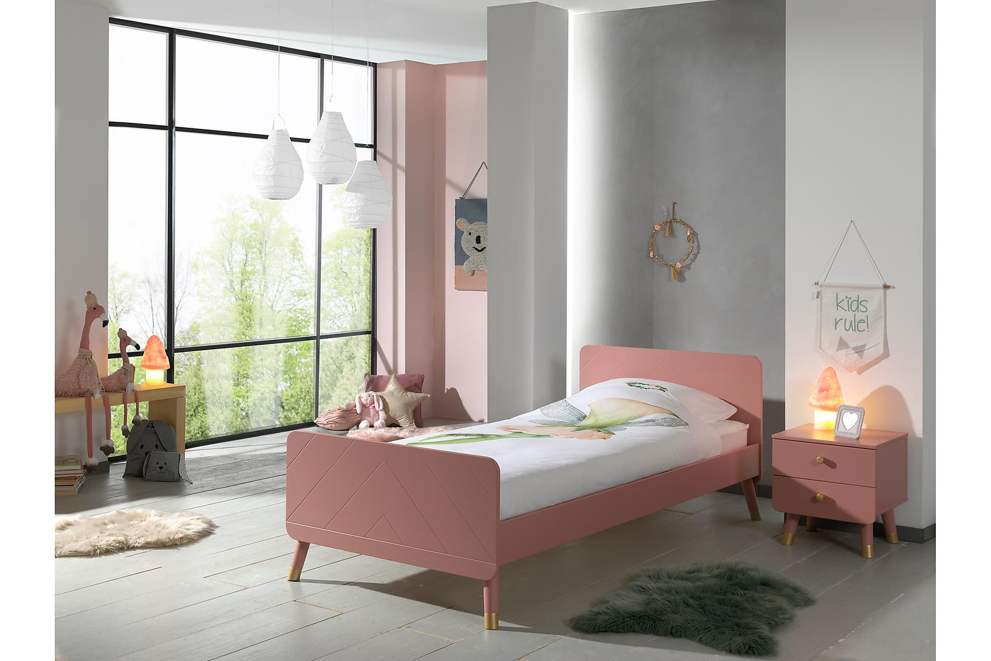 ARLUM Barnmöbelset Rosa, Möbelset för sovrum