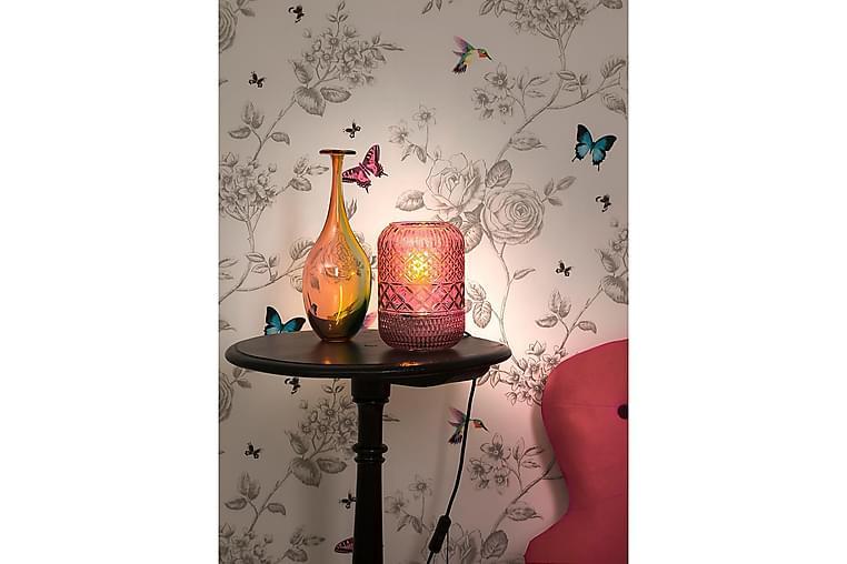 MINNA Bordslampa Rosa/Glas - Aneta Lightning - Möbler & Inredning - Belysning - Bordslampor
