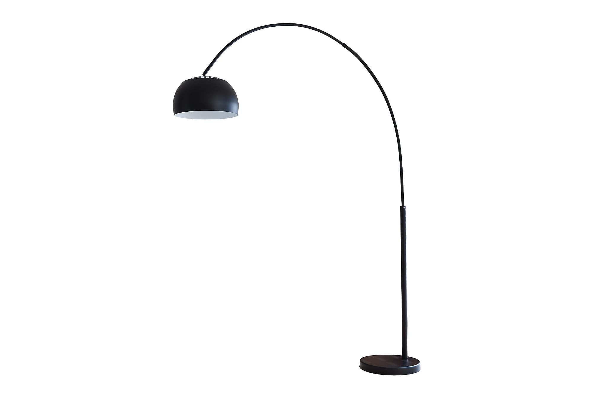 Båglampa 195 cm black, Golvlampor