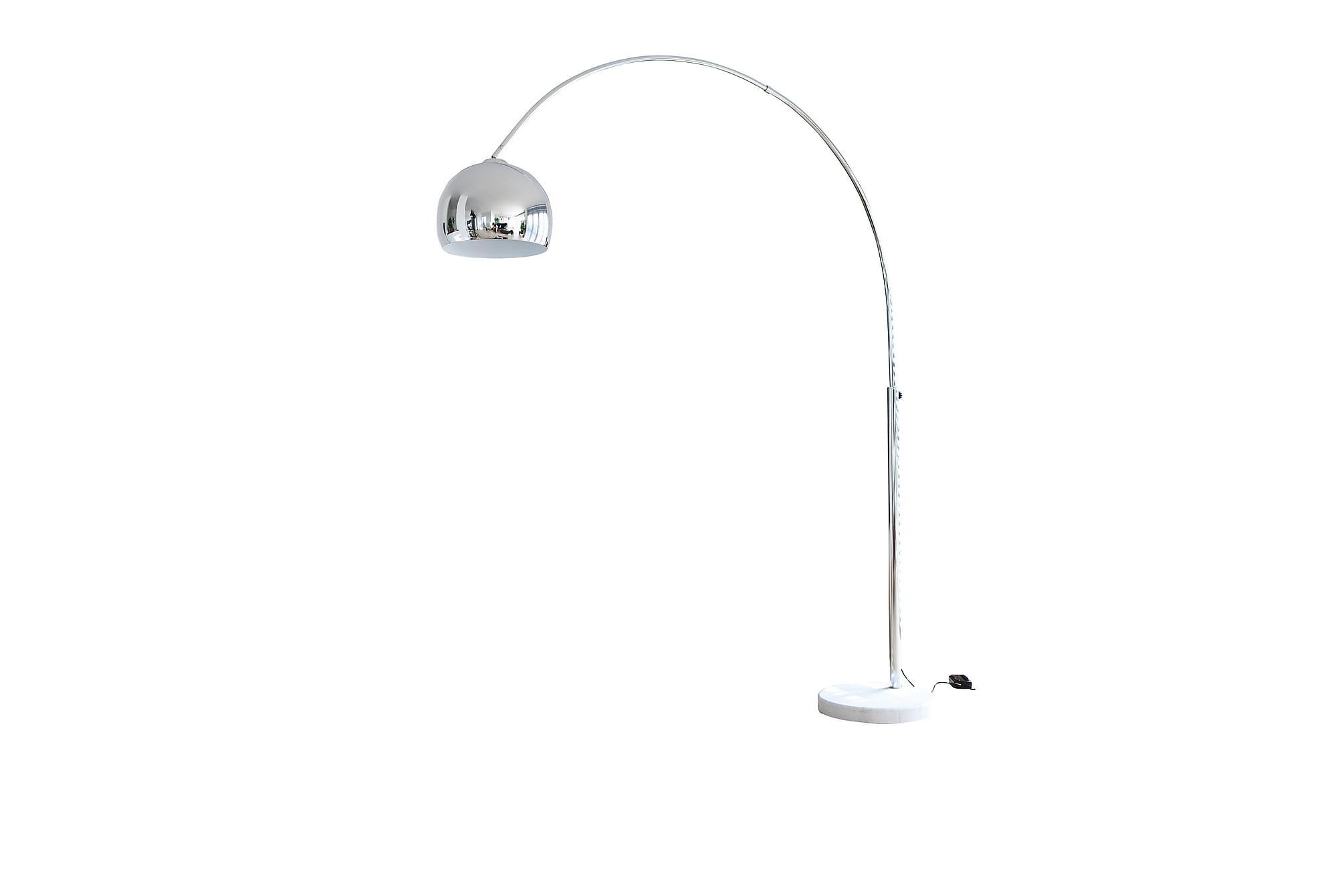 Båglampa 208 cm chrome, Golvlampor