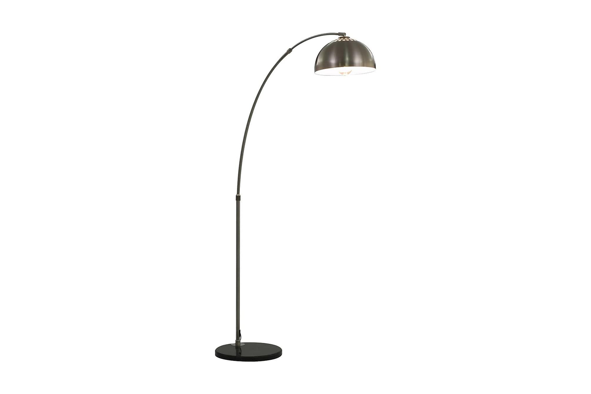 Båglampa 60 W silver E27 170 cm, Golvlampor