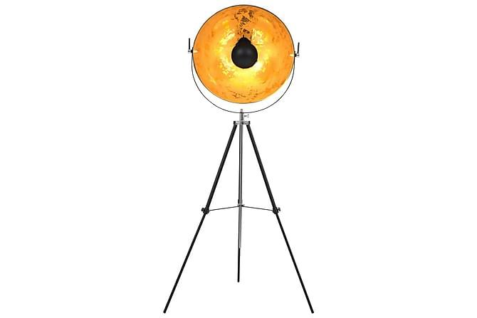 Golvlampa E27 svart och guld 51 cm - Svart - Möbler & Inredning - Belysning - Golvlampor