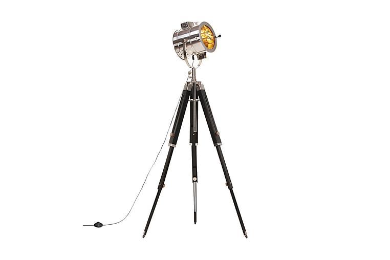 Golvlampa massivt mangoträ 165 cm - Svart - Möbler & Inredning - Belysning - Golvlampor