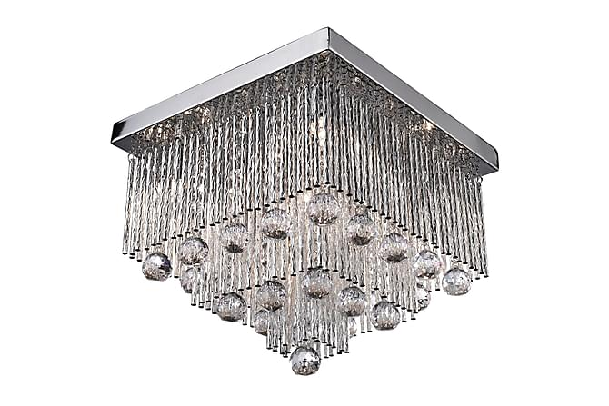 BEATRIX Taklampa 5L Flush Krom/Clear Crystal Drops - Möbler & Inredning - Belysning - Taklampor