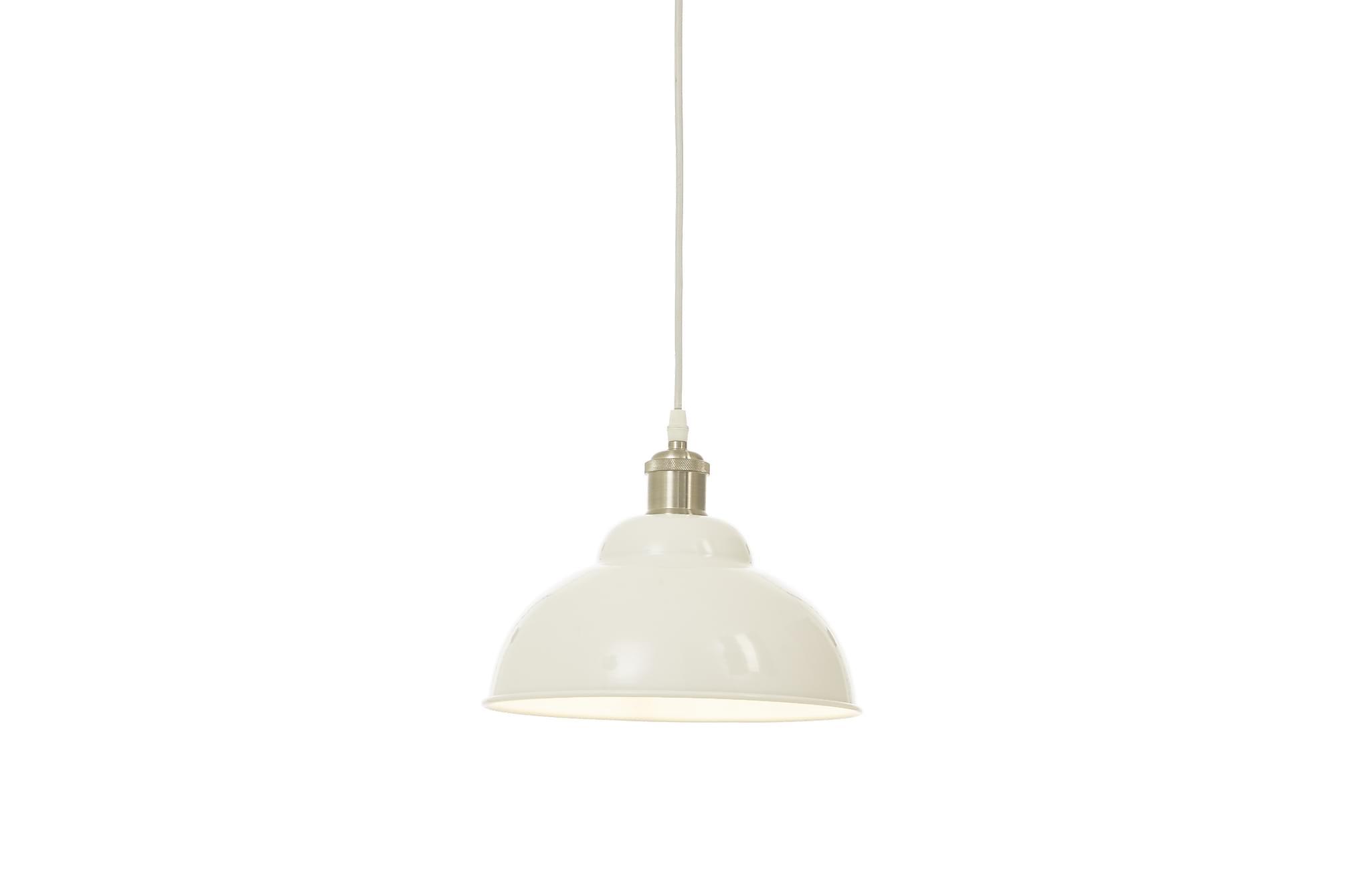 BONNIE taklampa 25cm, vit/silver, Lampor