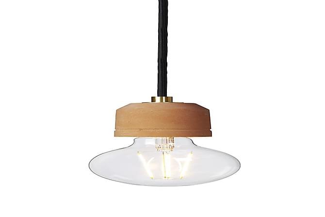 GROOVE Pendellampa 6 Rund Borstad Mässing/Terracotta - Möbler & Inredning - Belysning - Taklampor