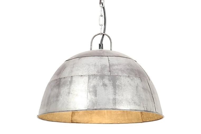Hänglampa industriell vintage 25 W silver rund 41 cm E27 - Silver - Möbler & Inredning - Belysning - Taklampor