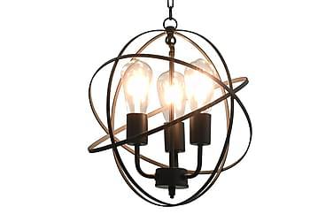 Hänglampa svart sfär 3 x E27-lampor