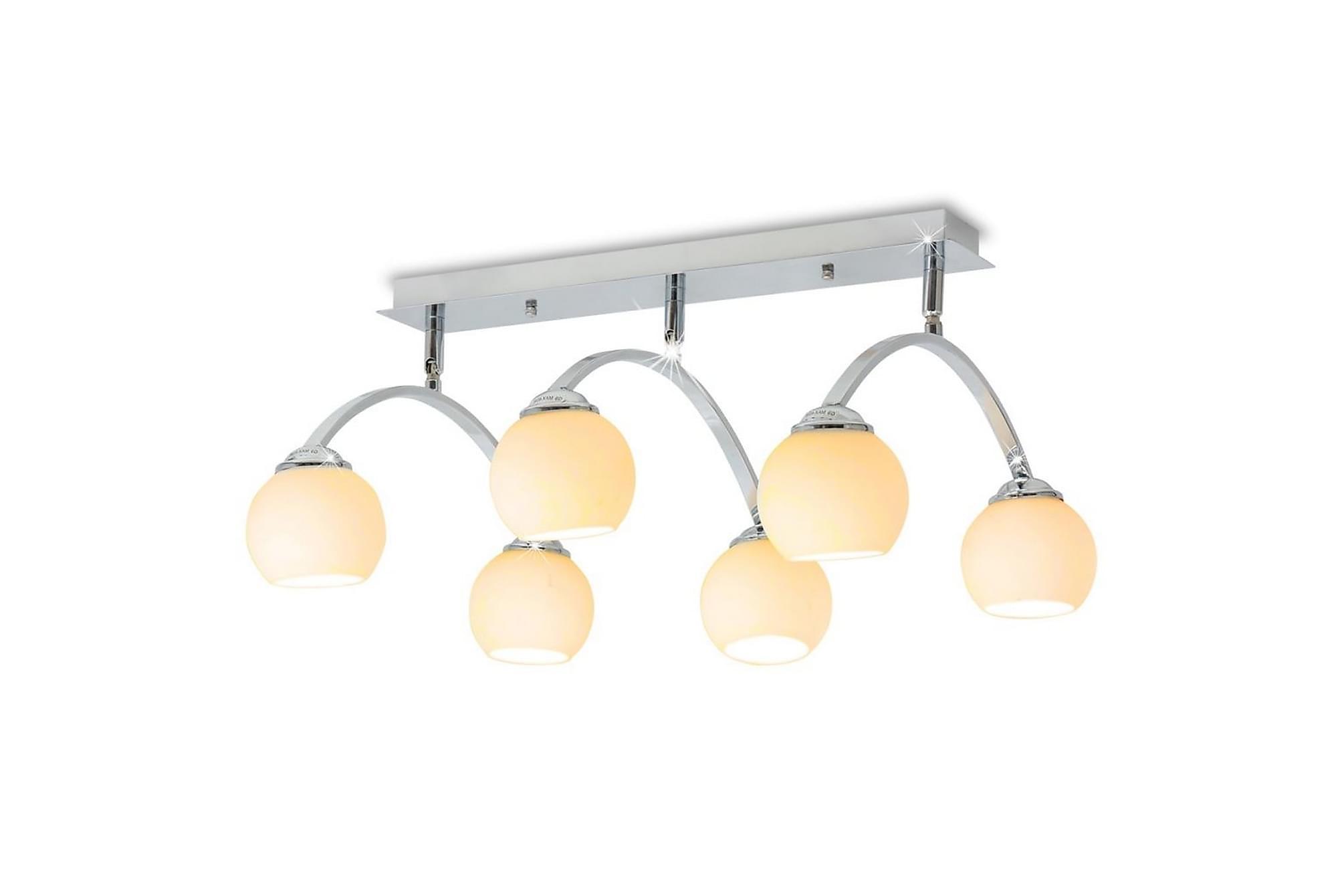 Taklampa med 6 LED-glödlampor G9 240 W, Taklampor