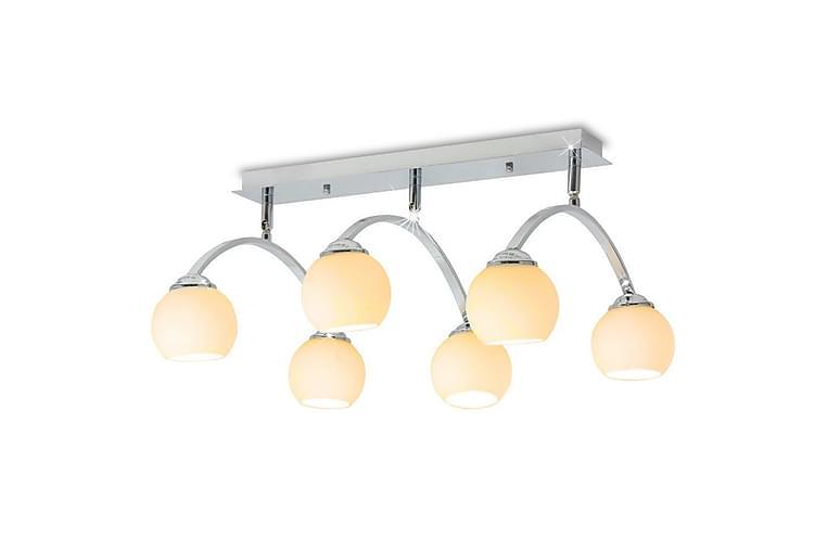 Taklampa med 6 LED-glödlampor G9 240 W - Vit - Möbler & Inredning - Belysning - Taklampor