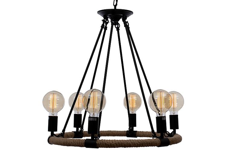 ZOLA Taklampa 6 Ljus Beige/Svart - AG Home & Light - Möbler & Inredning - Belysning - Taklampor