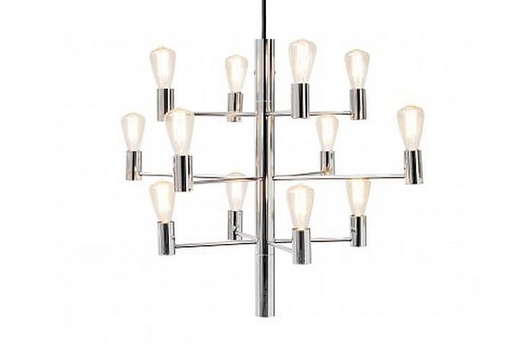 MANOLA Takkrona 60 Dimbar 12 Lampor Krom - Herstal - Möbler & Inredning - Belysning - Taklampor