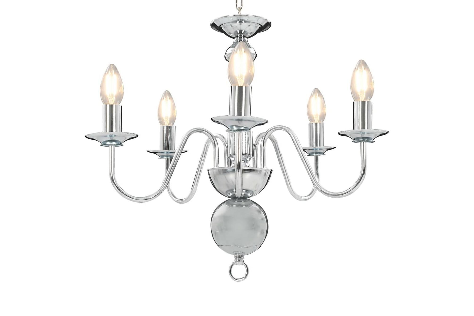 Takkrona silver 5 x E14-glödlampor, Taklampor