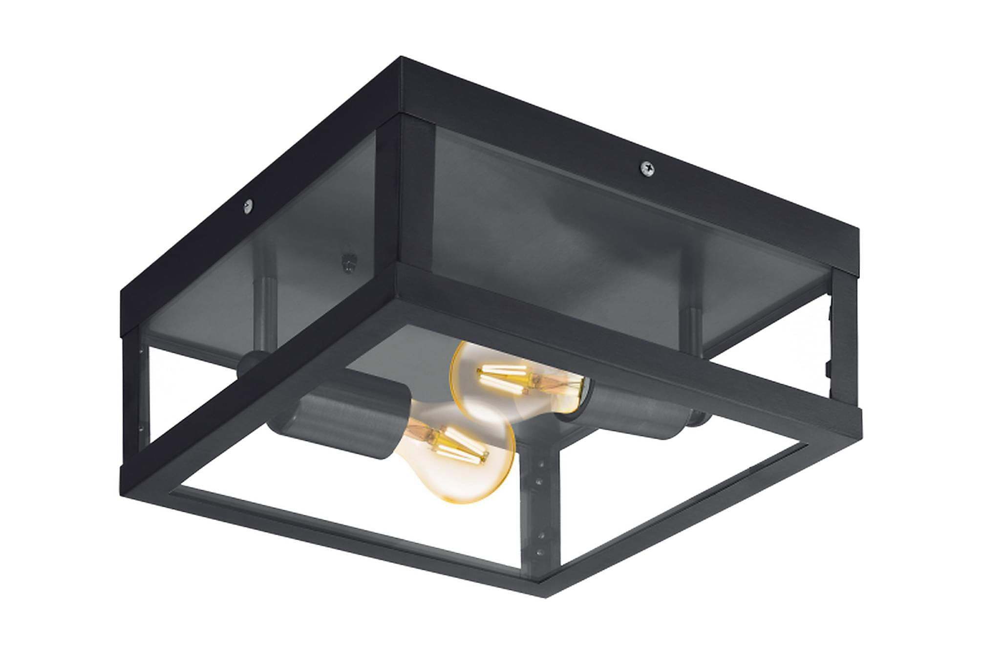 ALAMONTE Plafond 29 2 Lampor Svart/Klar, Lampor