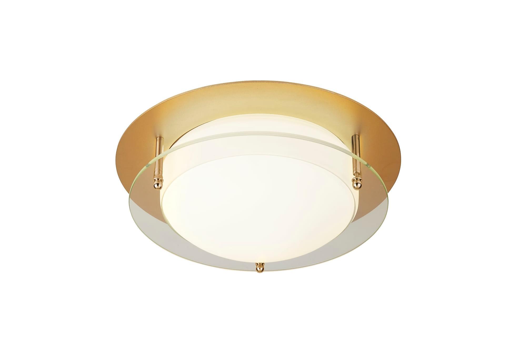 BATHROOM Flush LED Light 38 Guld/Glas, Belysning