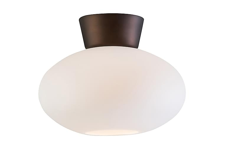BULLO Plafondlampa 27x21 cm Oxid/Opal Glas - Belid - Möbler & Inredning - Belysning - Taklampor