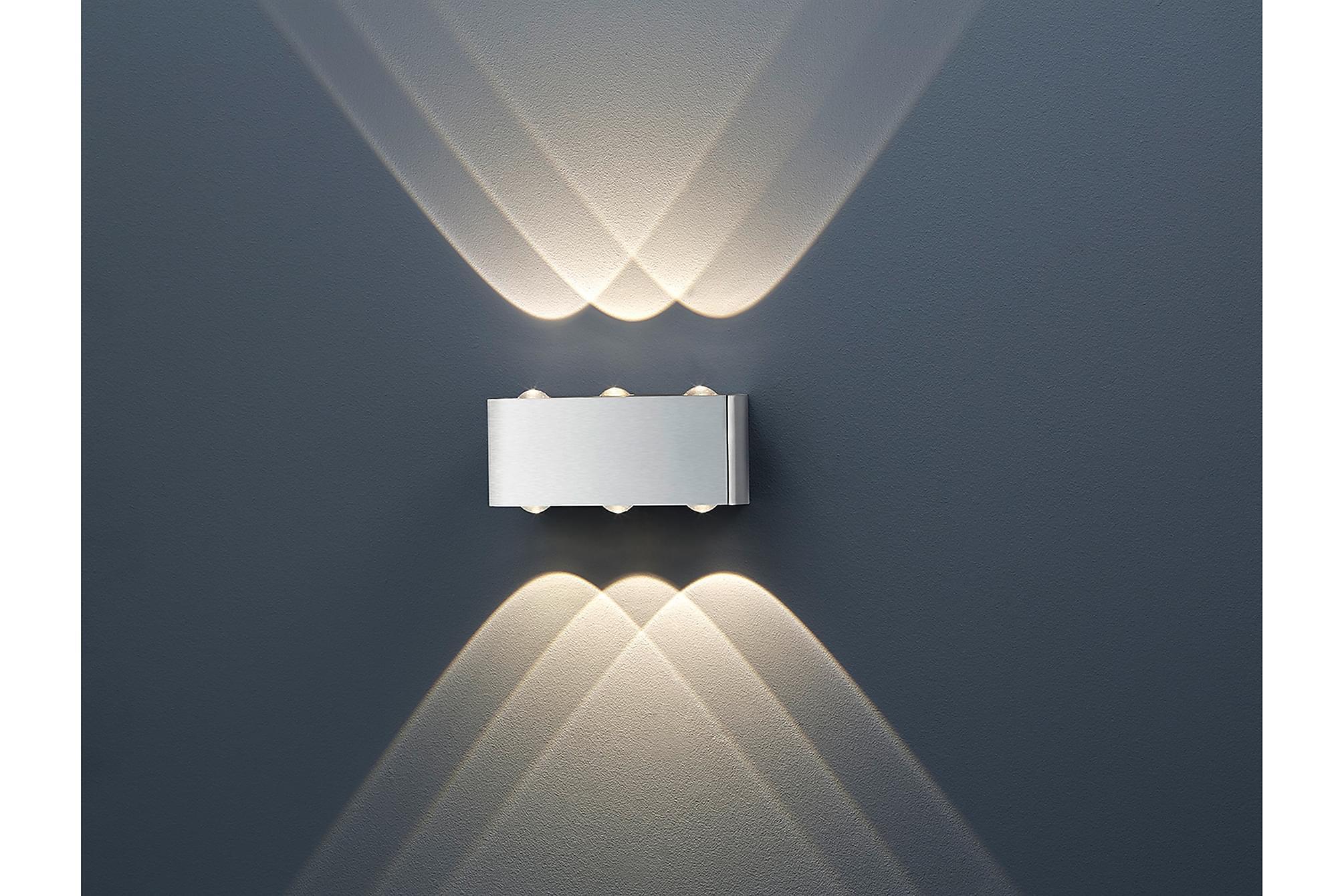 ABERDEEN Vägglampa Silver, Vägglampor