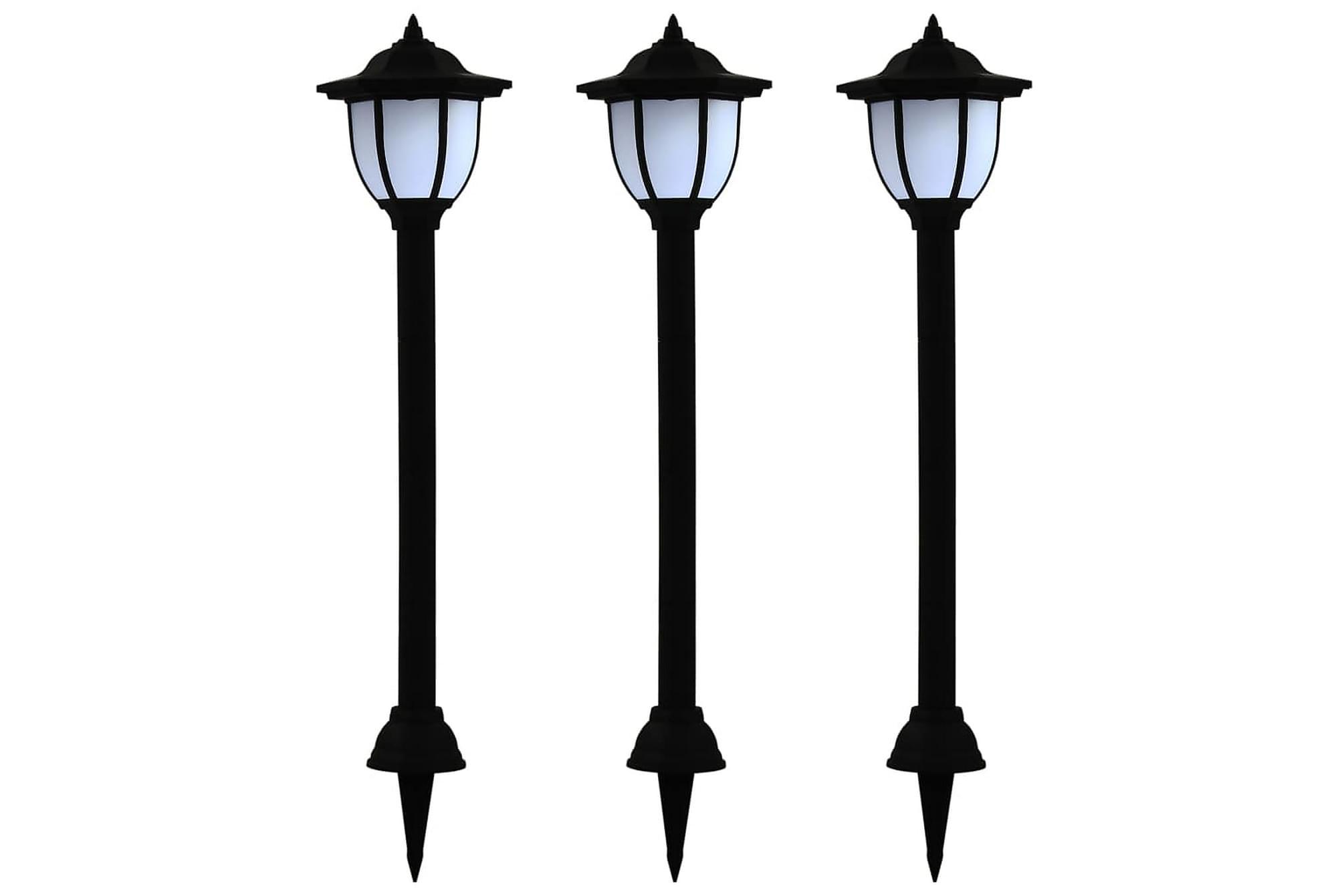 Sollampa LED set 3 st svart