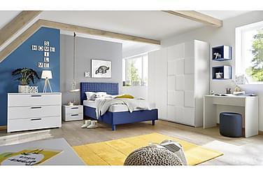 MOYES Byrå 104 3 Lådor Vit/Blå