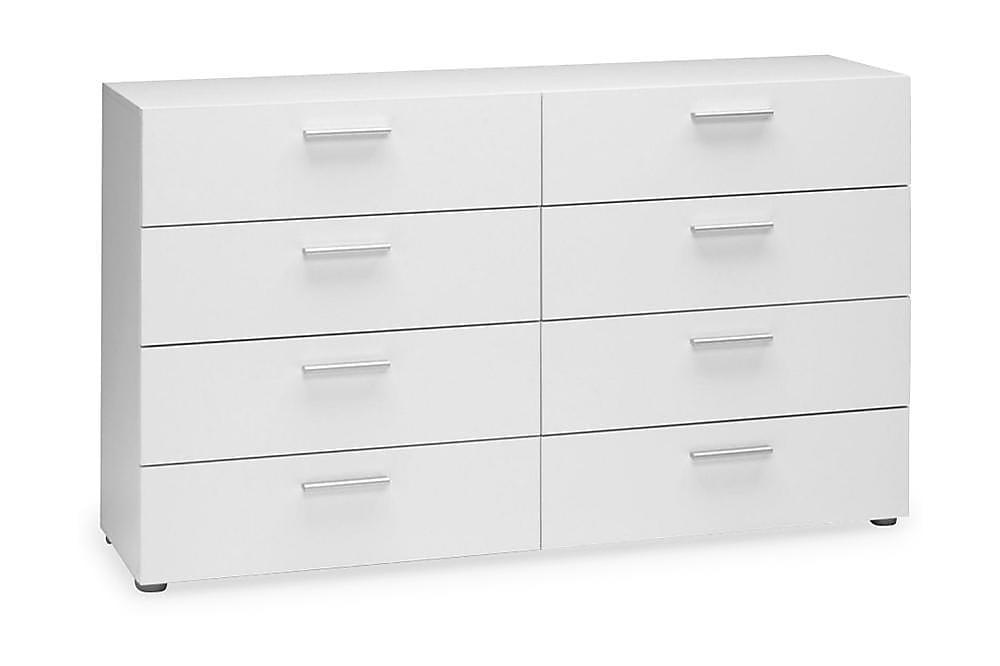 ROTELLA Byrå 140 8 Lådor Vit - Möbler & Inredning - Förvaring - Byråer