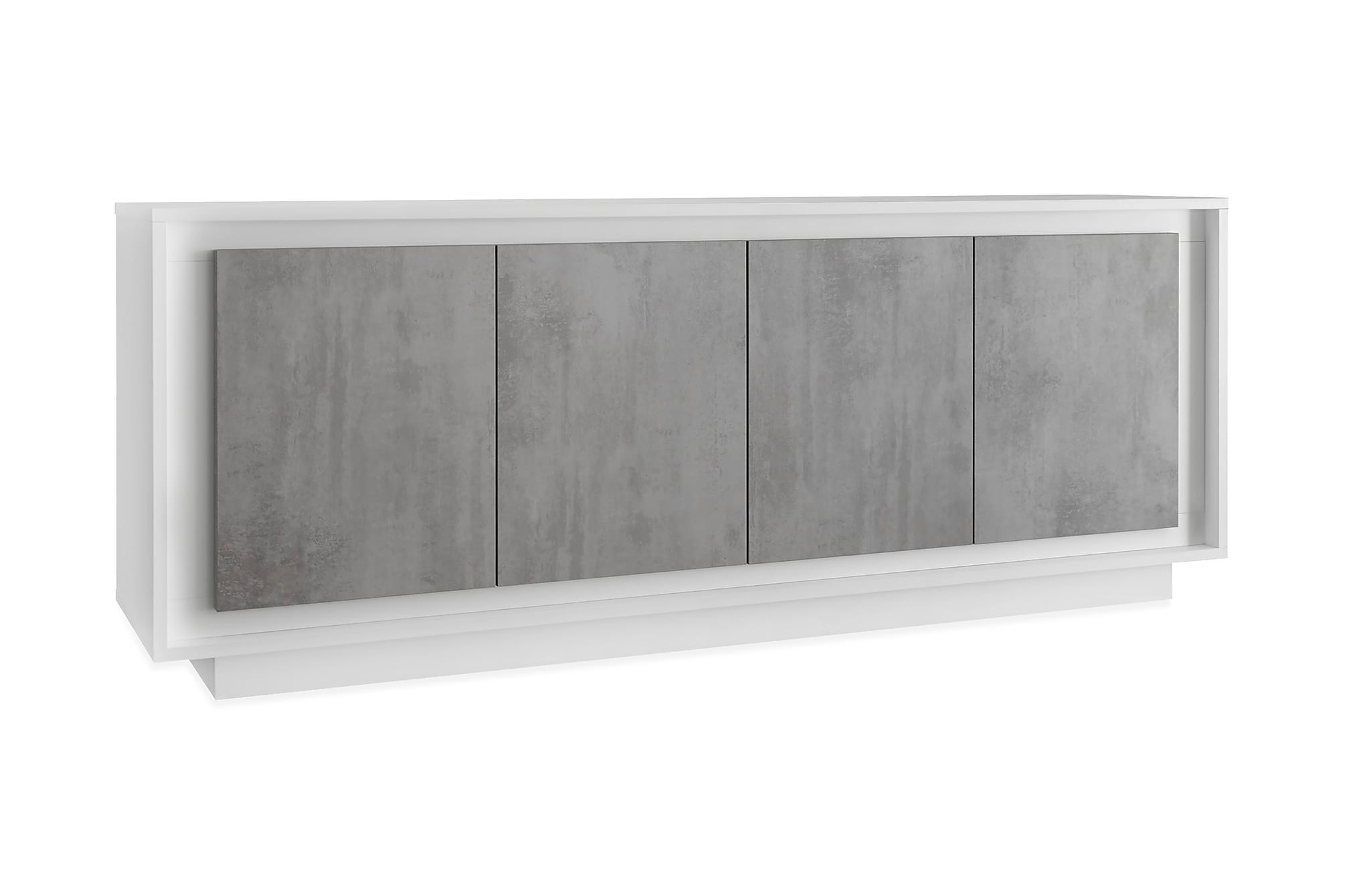 AIMILIO Sideboard 207 Vit/Grå, Sideboards