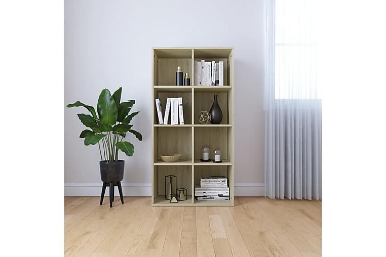 Bokhylla/skänk sonoma-ek 66x30x130 cm spånskiva - Brun - Möbler & Inredning - Förvaring - Sideboards