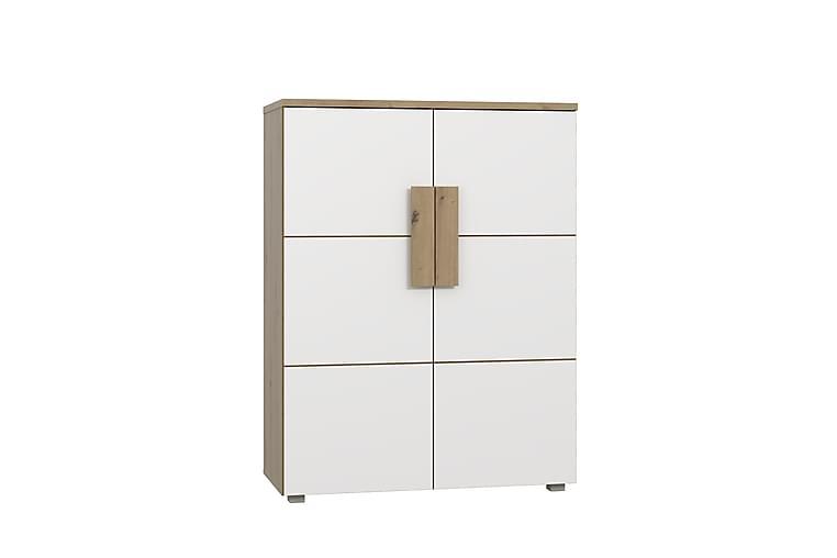DRYSLWYN Skänk 90 cm Brun/Vit - Möbler & Inredning - Förvaring - Sideboards