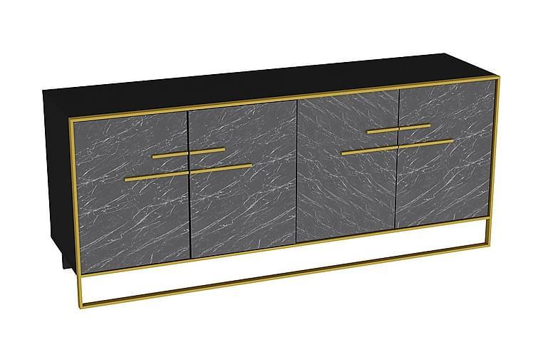 LANGSTRAAT Sidobord 180 cm Guld/Svart - Möbler & Inredning - Förvaring - Sideboards
