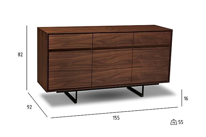 MAEL Skänk 155 3 Dörrar 3 Lådor Valnöt - Möbler & Inredning - Förvaring - Sideboards