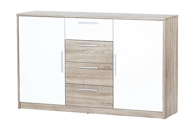 NOTARA Skänk 145 Vit/Ek - Möbler & Inredning - Förvaring - Byråer