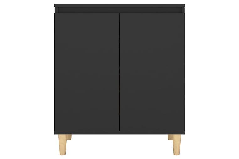 Skänk massiva träben svart 60x35x70 cm spånskiva - Svart - Möbler & Inredning - Förvaring - Sideboards