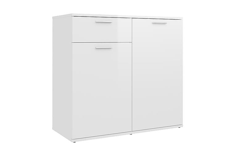 Skänk vit högglans 80x36x75 cm spånskiva - Vit - Möbler & Inredning - Förvaring - Sideboards