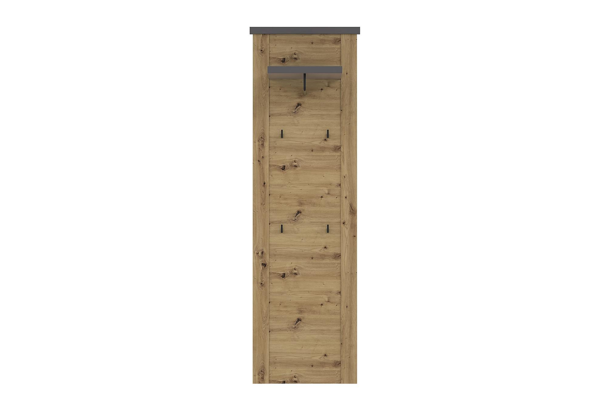 BESCH Väggmonterad Klädhängare 32x61 cm Brun/Grå, Klädhängare & hängare