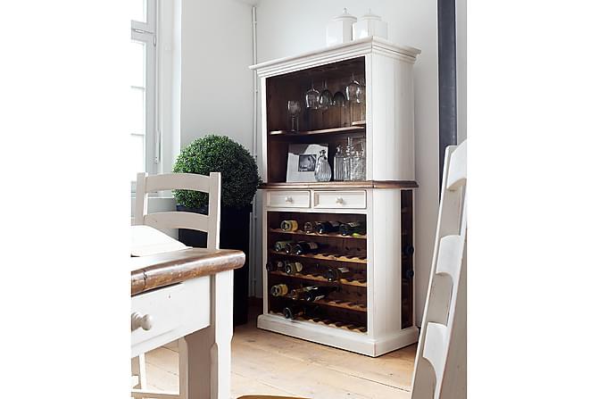 BODDE Bokhylla med Vinförvaring 112 Vintage Vit/Brun - Möbler & Inredning - Förvaring - Hyllor