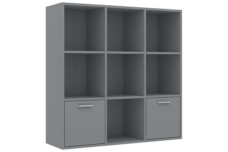 Bokhylla grå 98x30x98 cm spånskiva - Grå - Möbler & Inredning - Förvaring - Hyllor