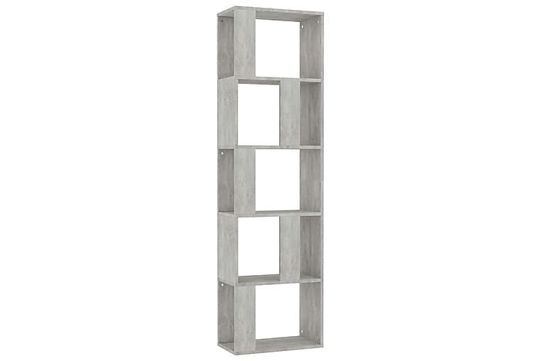 Bokhylla/Rumsavdelare betonggrå 45x24x159 cm spånskiva - Grå - Möbler & Inredning - Förvaring - Hyllor