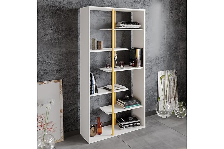 DELACUEVA Bokhylla 90 cm Guld/Vit - Möbler & Inredning - Förvaring - Hyllor