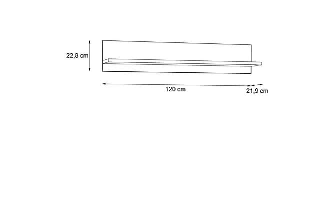 LYAM Vägghylla 22x120 cm Brun - Möbler & Inredning - Förvaring - Hyllor