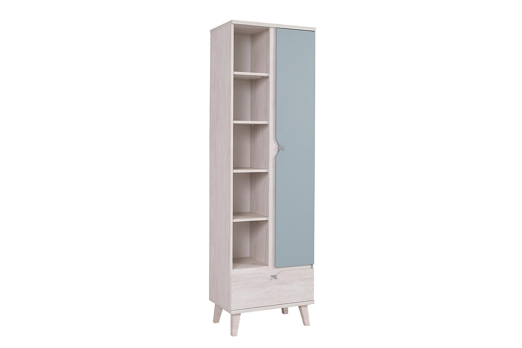Norrhace bokhylla 60 vit/blå