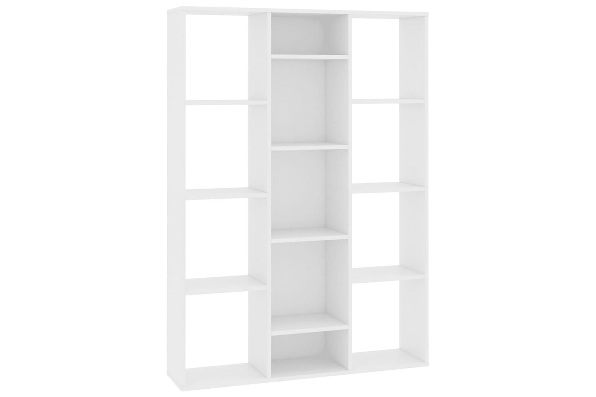 Rumsavdelare/bokhylla vit 100x24x140 cm spånskiva