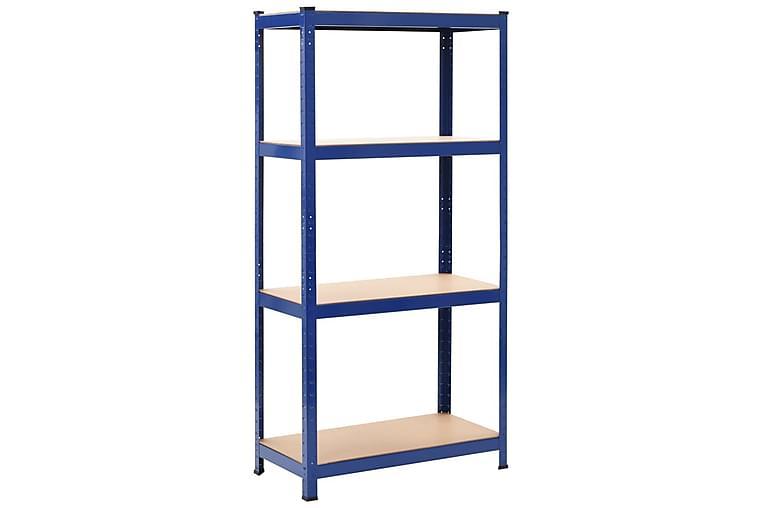 Förvaringshylla blå 80x40x160 cm stål och MDF - Blå - Möbler & Inredning - Förvaring - Hyllor