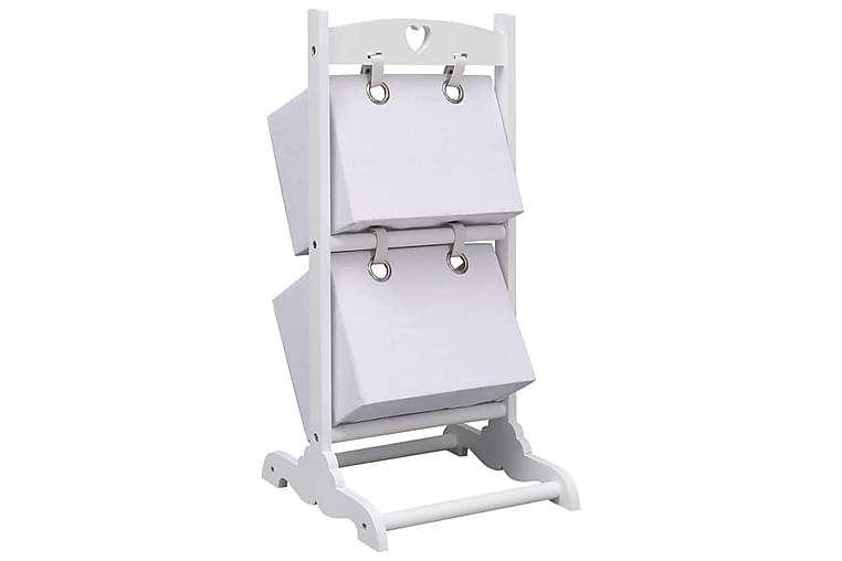 Förvaringshylla med 2 korgar vit 35x35x72 cm trä - Vit - Möbler & Inredning - Förvaring - Hyllor