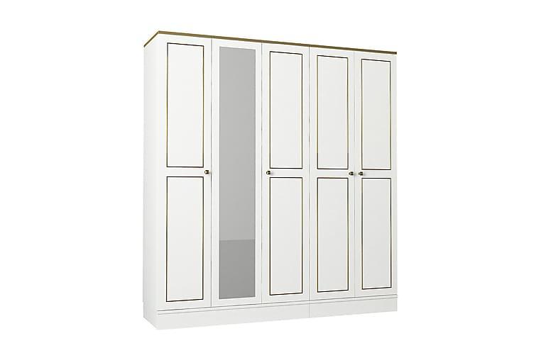 DADIAN Garderob 175 cm Vit/Guld - Möbler & Inredning - Förvaring - Garderober